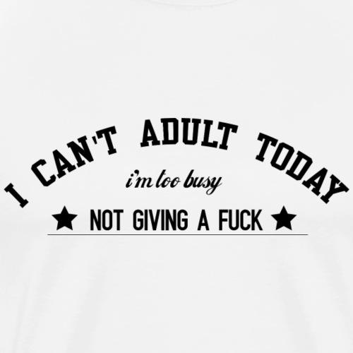 cantadultblack - Men's Premium T-Shirt