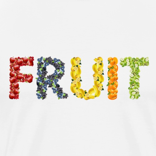 fruit food vegetables art - Men's Premium T-Shirt