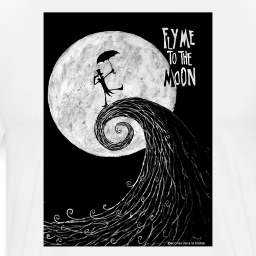 fly me to the moon II - T-shirt Premium Homme