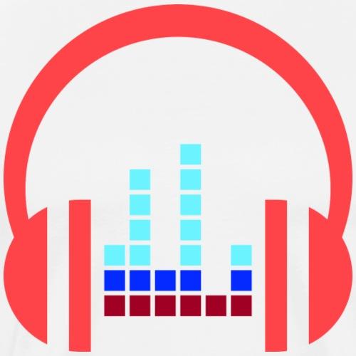 Kopfhörer - Musik Liebe - Männer Premium T-Shirt