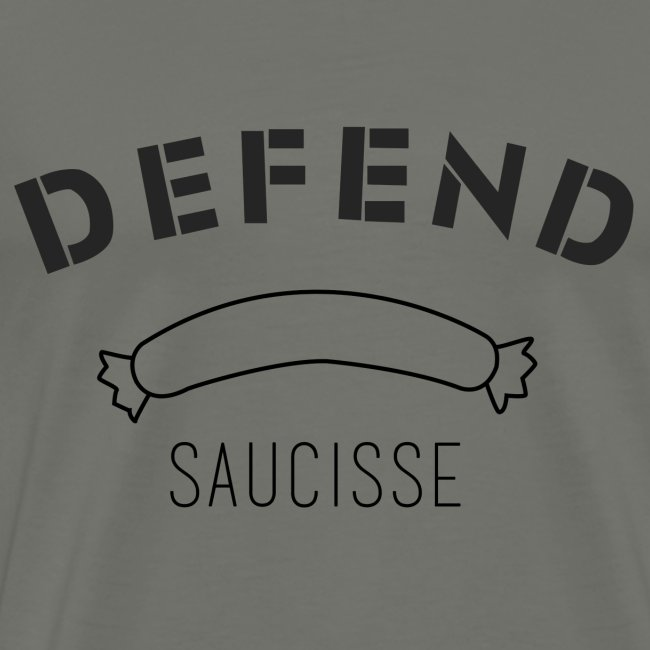 DEFEND SAUCISSE | noir