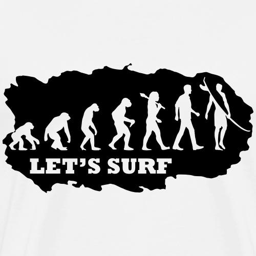Evolution of Surfing - Männer Premium T-Shirt