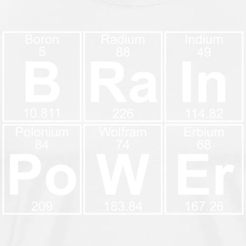 B-Ra-In-Po-W-Er (brainpower) - Full - Men's Premium T-Shirt
