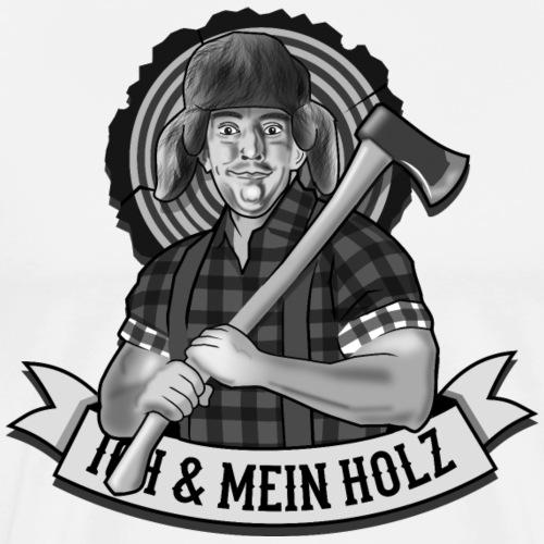 Ich und mein Holz T-Shirt für Holzfäller - Männer Premium T-Shirt