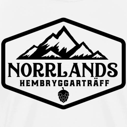 Norrlands hembryggarträff black print - Premium-T-shirt herr