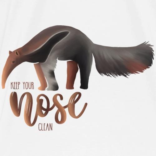 Ameisenbär Keep your nose clean - Anteater - Männer Premium T-Shirt