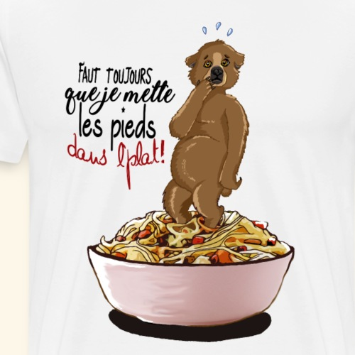 Pieds dans l'plat - T-shirt Premium Homme