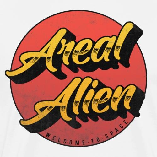 Alien Rusty Vintage Logo - Premium T-skjorte for menn