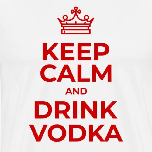 Keep calm and drink vodka (Rot) - Männer Premium T-Shirt