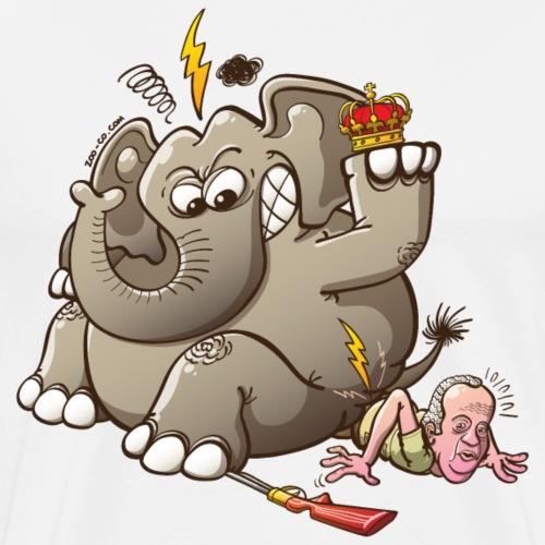 Spain's King Breaks Hip While Elephant Hunting - Men's Premium T-Shirt