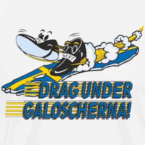 Drag under galoscherna. - Premium-T-shirt herr