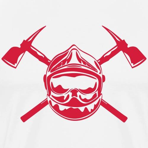 casque_pompier_2 haches - T-shirt Premium Homme