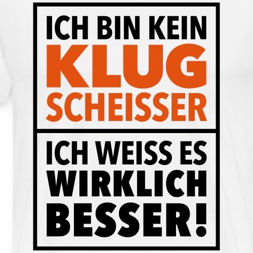 Klugscheißer Besserwisser Geek Big Bang Genie - Men's Premium T-Shirt