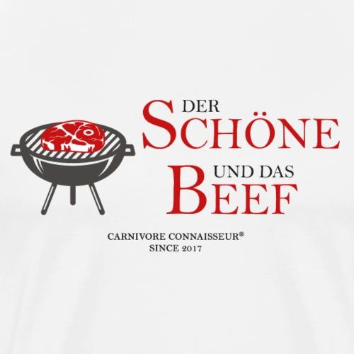 Der Schöne und das Beef (Grill Shirt) - Männer Premium T-Shirt