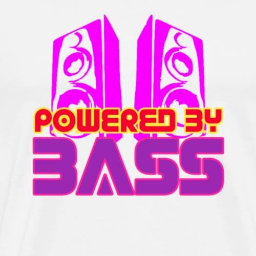 Powered by Bass - Mannen Premium T-shirt