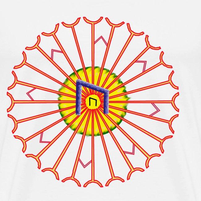 Strahlenkreis mit Rune