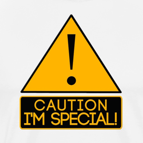 Caution Joke sign - Men's Premium T-Shirt