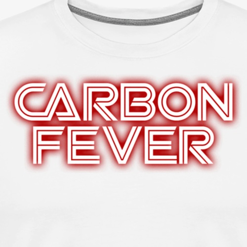 CARBON FEVER Logo white red - Männer Premium T-Shirt