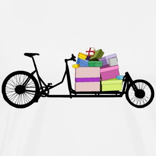 Lastenrad mit Geschenken - Männer Premium T-Shirt