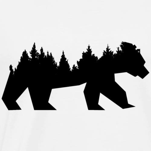 Bear Wald - Männer Premium T-Shirt