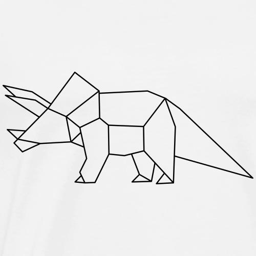 Dino Triceratops geometrisch - Männer Premium T-Shirt