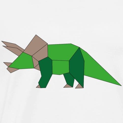 DinoTriceratopsFarbe - Männer Premium T-Shirt