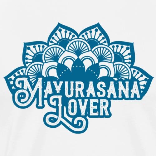 Mayurasana Yoga -blue- - T-shirt Premium Homme