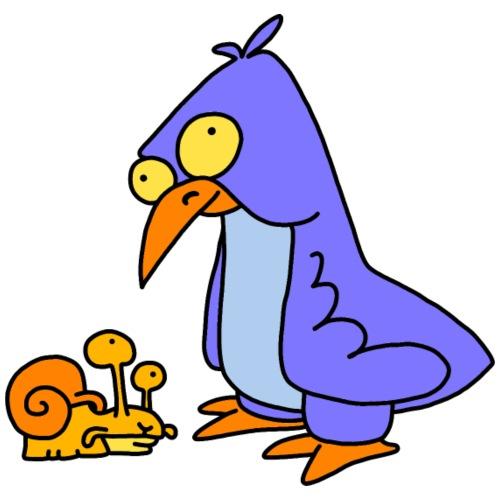 Schnecke und Vogel Nr 2 von dodocomics - Männer Premium T-Shirt