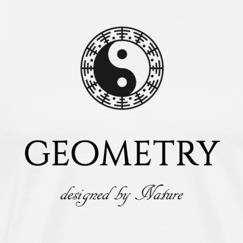 Black and white Yin & Yang - Premium T-skjorte for menn