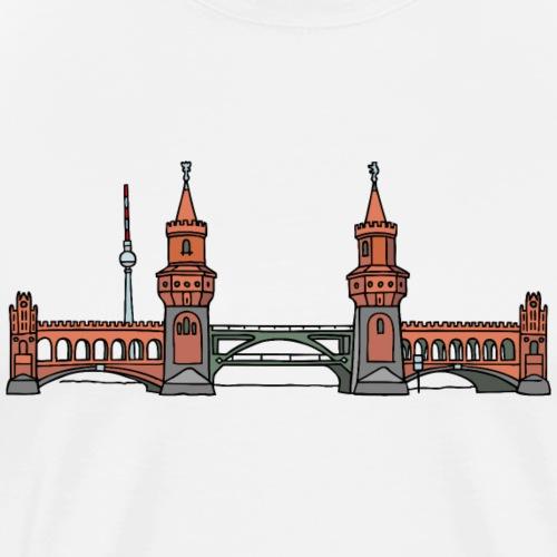 Oberbaumbrücke w Berlinie c - Koszulka męska Premium