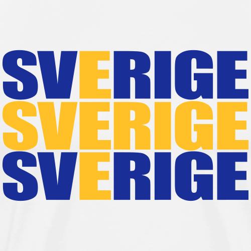 SVERIGE flaggtext - Premium-T-shirt herr