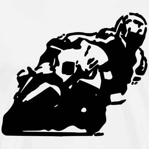 Motorrad Knieschleifen Rennstrecke - Männer Premium T-Shirt