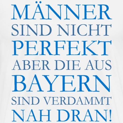 Die Männer aus Bayern (Blau) - Männer Premium T-Shirt