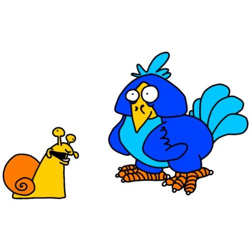 Schnecke und Vogel von dodocomics - Männer Premium T-Shirt