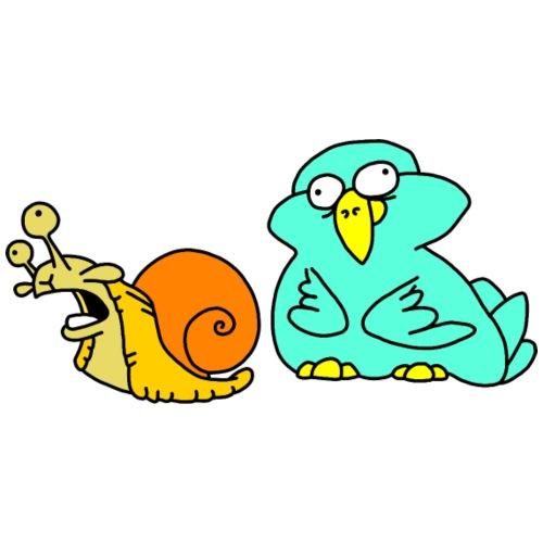 Schnecke und Vogel Nr 3 von dodocomics - Männer Premium T-Shirt
