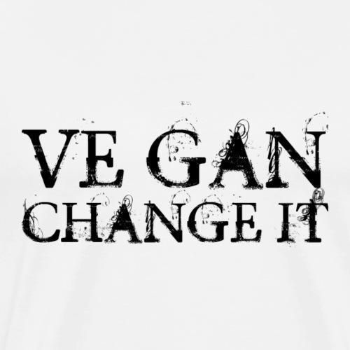 Ve gan change it - Männer Premium T-Shirt