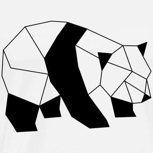 Panda geometrisch - Männer Premium T-Shirt