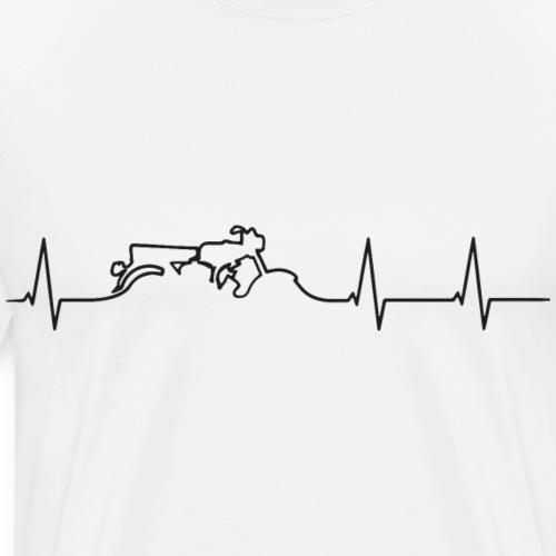 heartbeat s51 black - Männer Premium T-Shirt