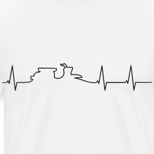 heartbeat schwalbe black - Männer Premium T-Shirt
