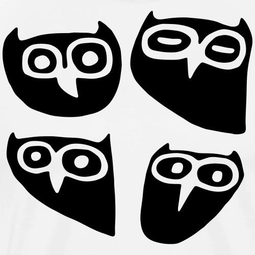 4 Eulen - Männer Premium T-Shirt