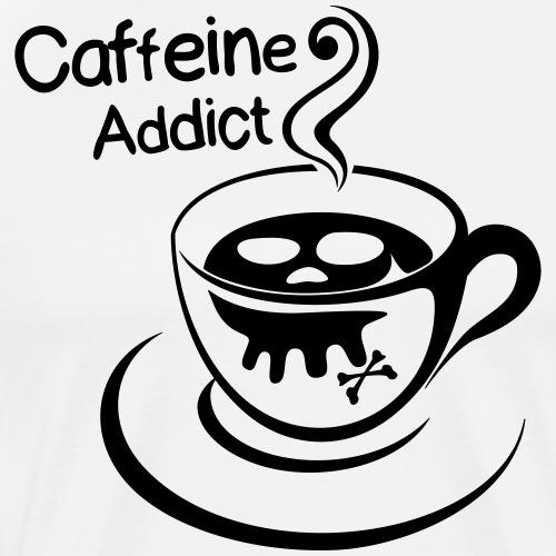 Caffeine Addict - Mannen Premium T-shirt