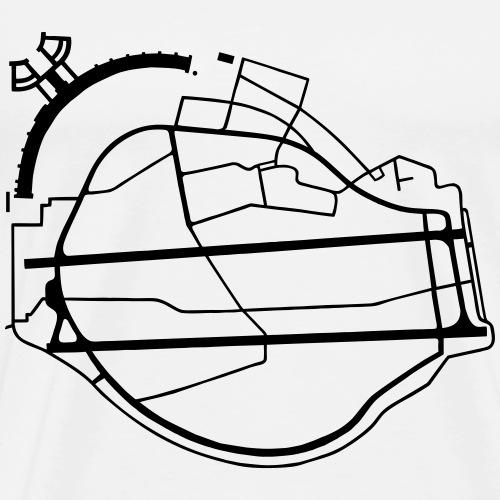 Campo di Tempelhof Berlino - Maglietta Premium da uomo