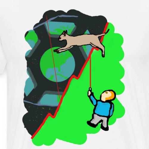 Laser chasing cat - Men's Premium T-Shirt
