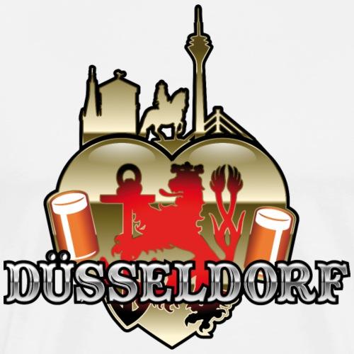 Düsseldorf-T-Shirt Düsselherz - Männer Premium T-Shirt