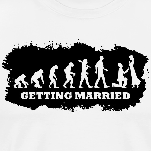 Evolution Of Marriage - Männer Premium T-Shirt