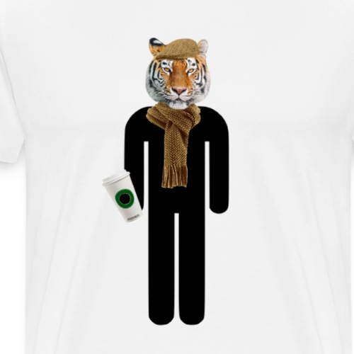 Hipster Tiger - Men's Premium T-Shirt