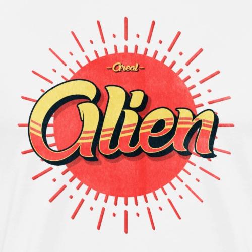 Alien Vintage Logo - Premium T-skjorte for menn
