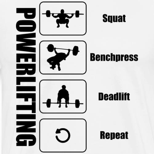 Powerlifter Lifestyle Schwarz - Männer Premium T-Shirt