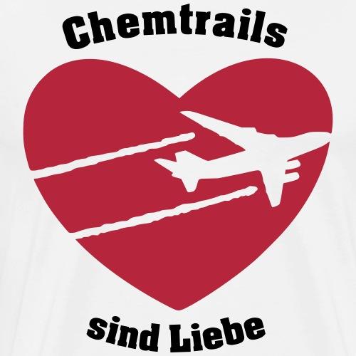 Chemtrails sind Liebe - Männer Premium T-Shirt