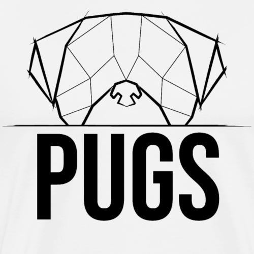 Pugs Mops Pugface Geometrical - schwarz